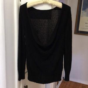 Sweaters - Deep scoop necked black sweater size S.